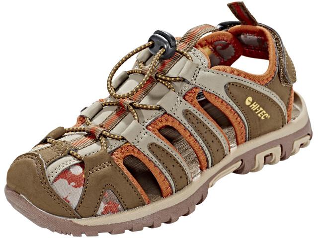 Hi-Tec Cove Sandals Junior boxed brown/cinnamon/core gold